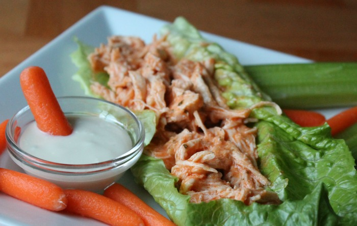 Crock Pot Spicy Chicken Lettuce Wraps